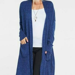 Medium Blue open front cardigan with pockets! NWOT
