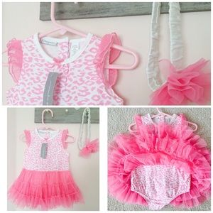 First Impressions Other - Beautiful Baby Girl Dress & Headband! 🎀NWT!