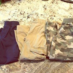 Bundle little boys cargo pants size M/5-6