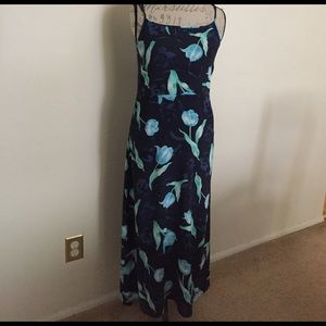 Floral Maxi Dress by The Limited, 100% Rayon