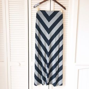 Banana Republic Dresses & Skirts - Banana Republic Navy and Gray Maxi Skirt