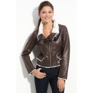 Kenneth Cole New York Faux Shearling Bomber Jacket