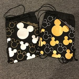 Mickey Mouse drawstring backpacks