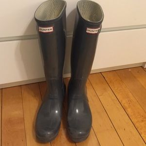 Hunter Boots Shoes - Gray hunter boots size 10!!