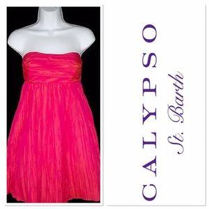 Calypso St. Barth Dresses & Skirts - Calypso St Barth irredentist magenta dress