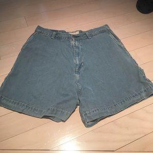 Indigo Blue Pants - Indigo High-Waisted Cargo Short Size 32