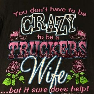 💥Crazy truckers wife t-shirt 🚛 Final Sale