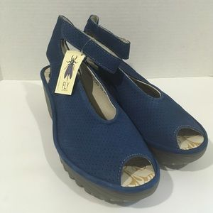 Fly London Shoes - New FLY London blue wedges, darling