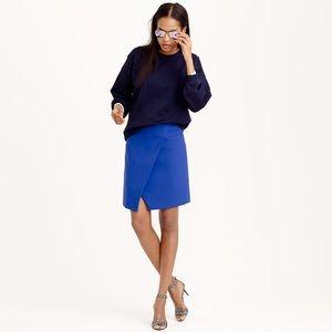 J. Crew Blue Crossover Wrap Skirt