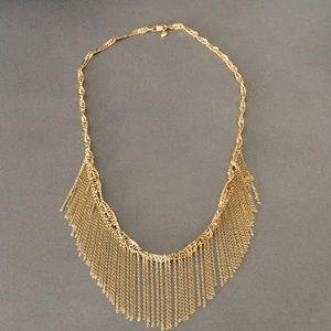 J. Crew Jewelry - J. Crew Trendy Gold Fringe Necklace