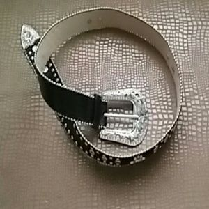 cowgirl  up Accessories - Leather,  rhinestone belt.