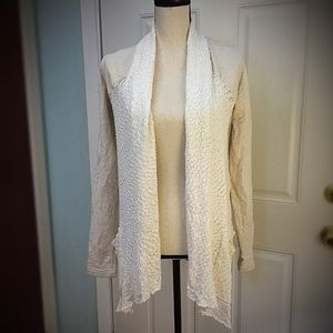 Lucky Brand Knit-Lacey Front Jacket