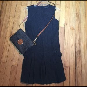 ✨🌹Worn Once Zara Dark Gray School Girl Dress XS