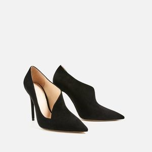 ‼️New Asymmetric suede shoes from Zara size 40
