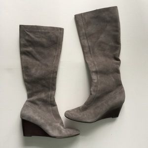 Cole Haan Shoes - Cole Haan gray suede wedge boots - size 7.5B