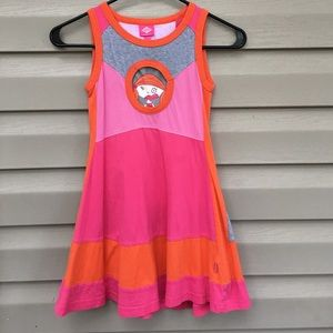 Oilily Other - Oilily girls pink/orange sleeveless knit dress