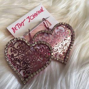 Betsey Johnson Jewelry - 💗 Betsey Johnson Heart Earrings