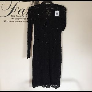 Persona by Marina Rinaldi Dresses & Skirts - Formal black lace and sequined dress