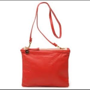 Clare Vivier Handbags - Clare V double sac bretelle in Poppy