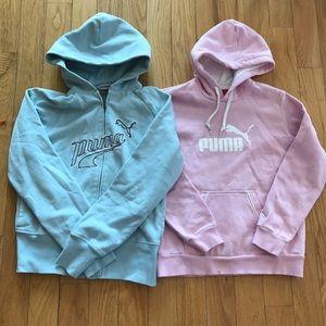 2 Puma Hoodies