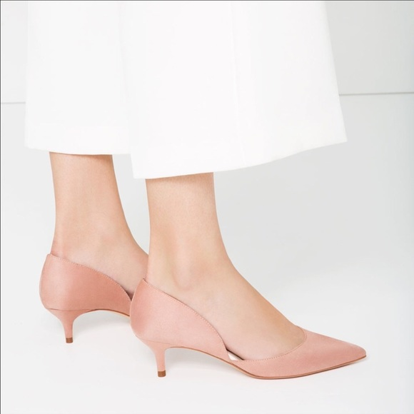 blush pink kitten heel shoes closeout