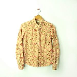 Anthropologie Odille embroidered blouse