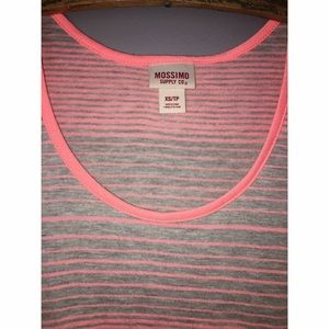 Tops - Grey and Coral Striped Tank Sz XS