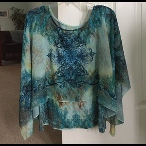 Pretty Sheer overlay with attached tank