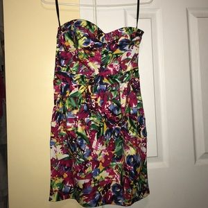 Size 6 H&M bright floral pattern dress