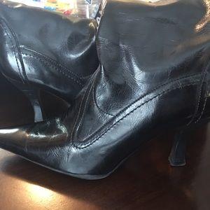 Franco Sarto tall black leather boots 9