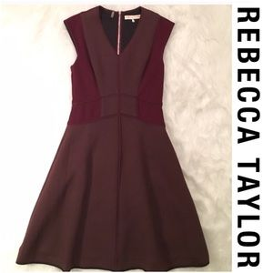 Rebecca Taylor Dresses & Skirts - EUC Rebecca Taylor Wine Textured Fit & Flare Dress