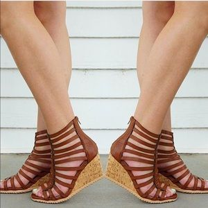 SavedByTheShoes Shoes - Wedge Gladiator Strappy Sandals
