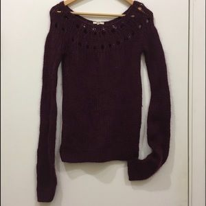 Ruehl No. 925 Sweaters - RUEHL No925 SCOOP NECK WOOL SWEATER. PLUM S
