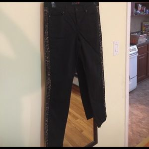 G by Guess Pants - Black pants with Leopard on the sides