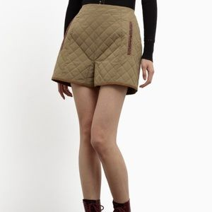 Carven Pants - Carven Quilted Technical Ottoman Quilted Shorts