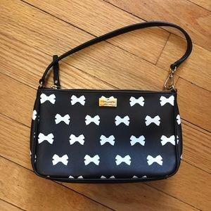 kate spade Handbags - Kate Spade • Black & White Bow Wristlet