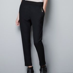 H & M Pants - Black trousers with elastic waistband