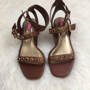 Isaac Mizrahi Shoes - Isaac Mizrahi Studded Leather Sandals
