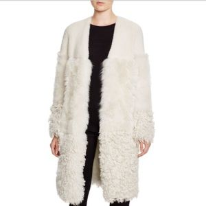 Whistles Jackets & Blazers - Whistles White Shearling Coat