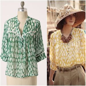 Anthropologie Flowering Pasture Blouse silk Dolan