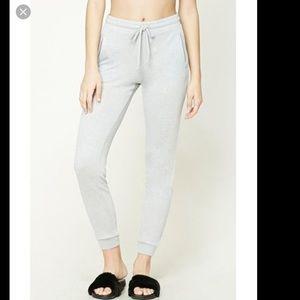 Pants - Knit Joggers Sweatpants PJ pants pockets GRAY