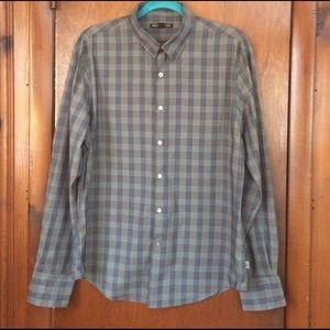 John Varvatos Other - John Varvatos plaid mens button down shirt size M