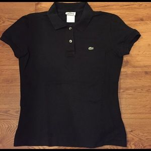 Lacoste- black fitted polo