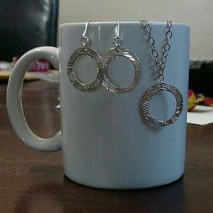 Sterling Silver & Fine Silver necklace & earrings