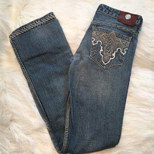 Antik Denim Denim - Antik Denim saddle Stitch slim boot jeans 27 x 33
