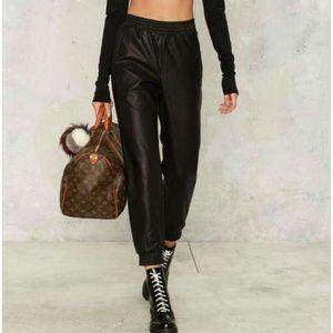 Bardot Pants - Bardot Owen Vegal Leather Pants