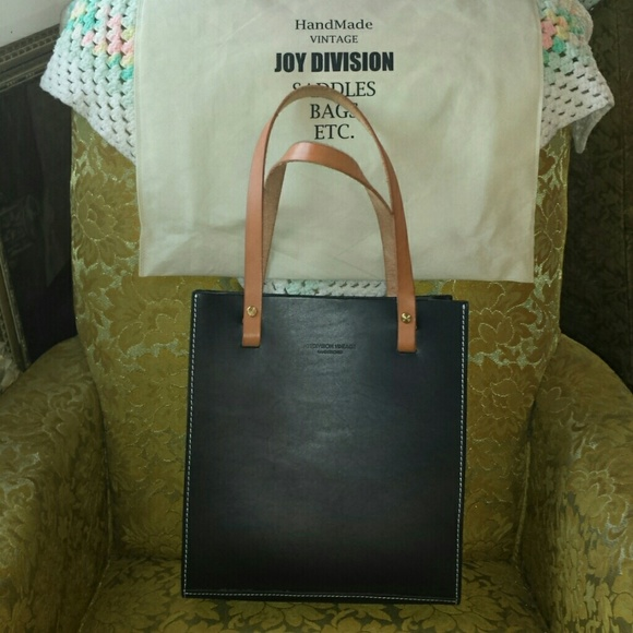 2087d35391 Joy Division Vintage (ETSY) Handbags - Structured Leather Tote Bag