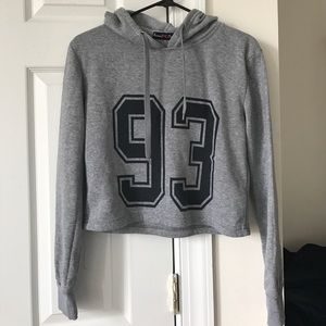 Super soft cropped hoodie