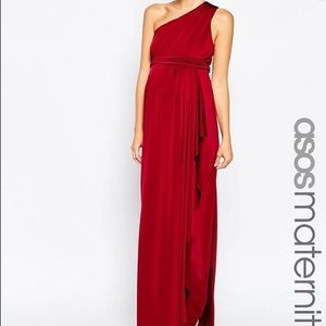 ASOS Maternity Dresses & Skirts - ASOS Maternity Slinky Maxi Dress With One Shoulder