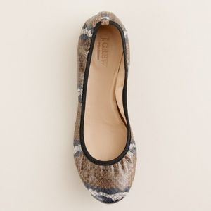 J.Crew Collection Lula Ballets Flats in Snakeskin